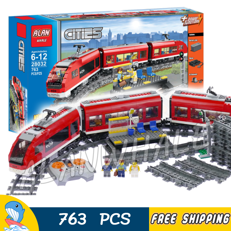 763pcs City Remote Control Motorized Passenger Train Locomotive 28032 Model Building Blocks Assemble Toy Compatible With LagoING
