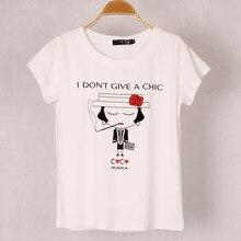 Взрыв Euramerican женщина личность футболка сигареты штамп стрейч Хлопок модал Футболка хорошего качества оптовая продажа