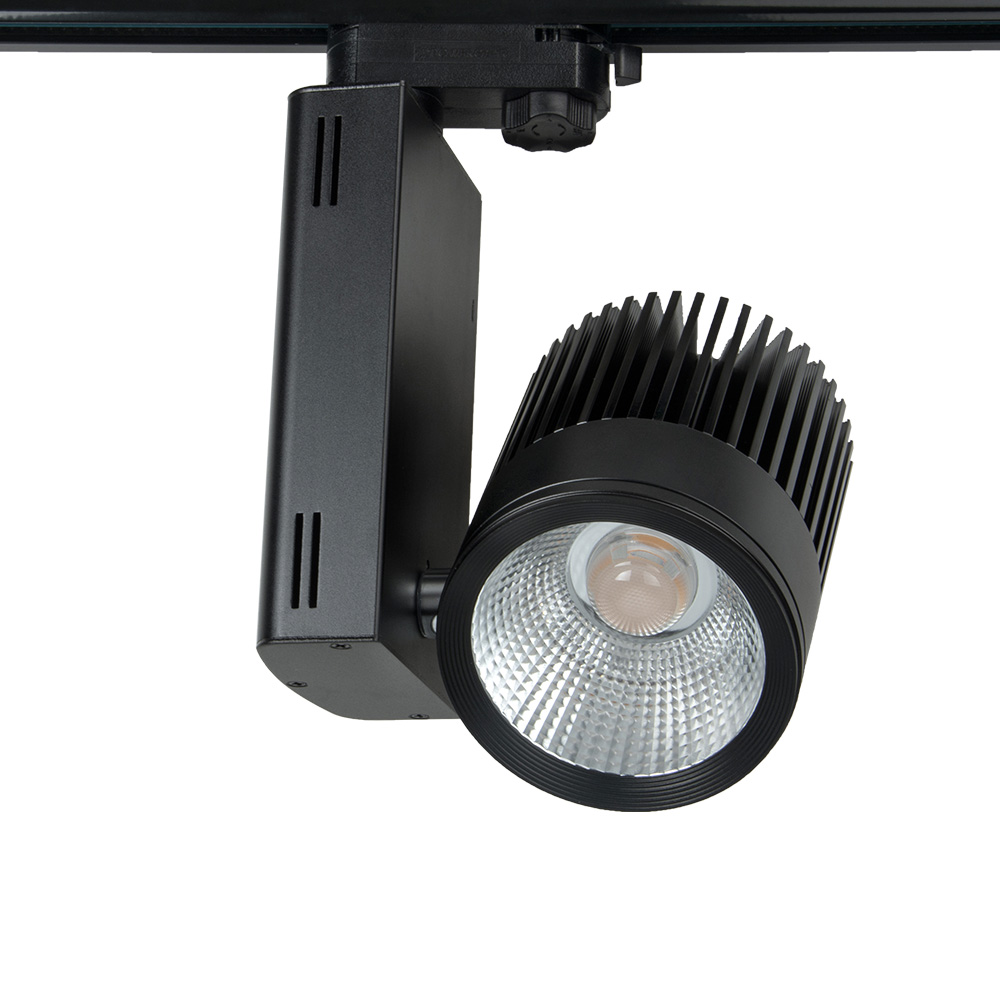 Super Bright 40W COB LED Track Light Commercial LED Light 200-240v 360 degree rotatable 2/3/4 way available 10pcs/lotSuper Bright 40W COB LED Track Light Commercial LED Light 200-240v 360 degree rotatable 2/3/4 way available 10pcs/lot