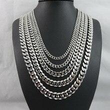 Мужское ожерелье из нержавеющей стали, мужские аксессуары, Женские Ювелирные изделия в стиле панк, хип-хоп, мужские цепочки, мужские ожерелья