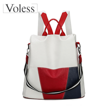 High Quality PU Leather Anti-thief Women Backpack Large Capacity New Fashion School Bags for Teenager Girls Travel Bags Mochila women backpack high quality pu leather sac a main school bags for teenagers girls top handle large capacity student package