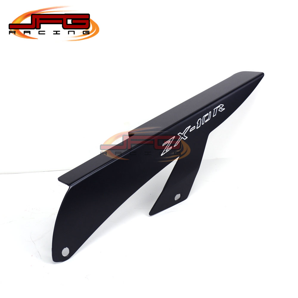 Black Chain Guards Cover For Kawasaki ZX10 ZX10R 2006 2007 2008 2009 Motorcycle Parts aftermarket free shipping motorcycle parts eliminator tidy tail for 2006 2007 2008 fz6 fazer 2007 2008b lack