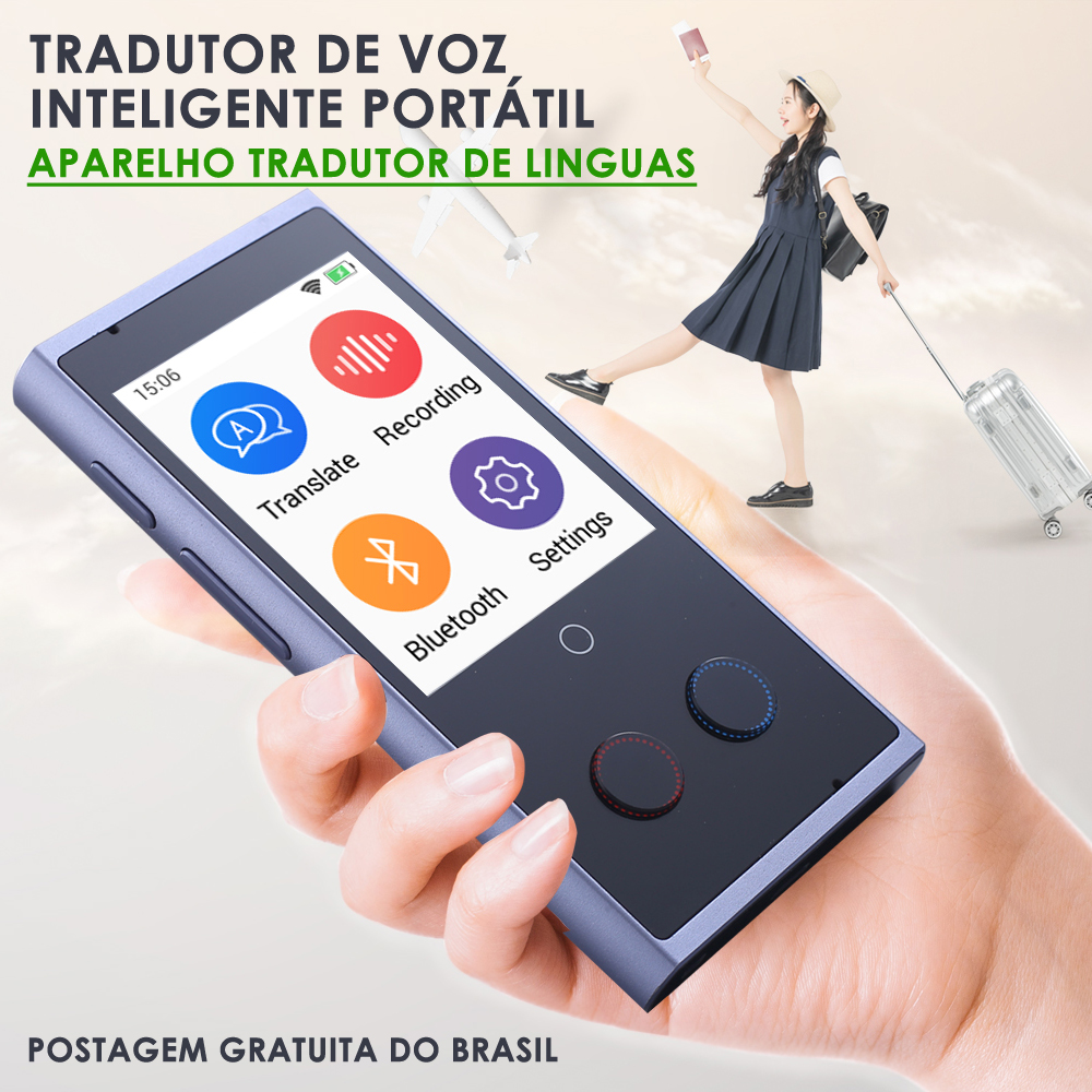 Translaty Smart Voice Translator Portable Translate Tradutor Device 75 Multi-language Instant Translator Intelligent Translation