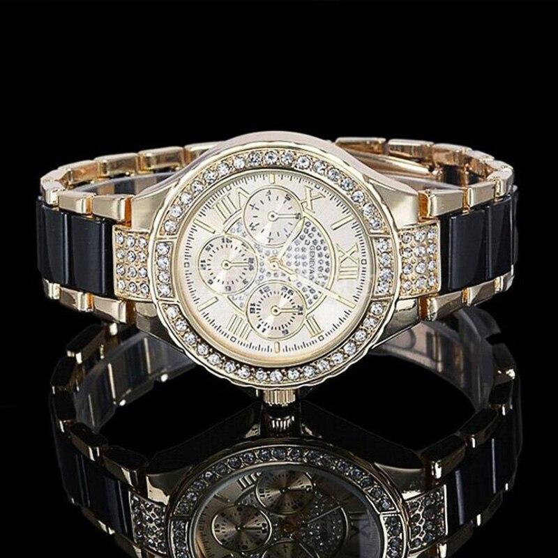 Female Wristwatches Clock Fashion Women Rhinestone Watch Casual Ceramic Crystal Quartz Watches Relogio Feminino Drop Shipping