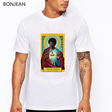 Pulp Fiction Saint Mia Jules tshirt men I want to believe letters printed t shirt homme funny shirts aesthetic graphic tees