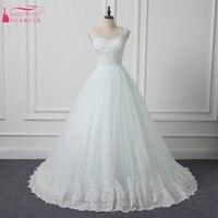 Spitze Stil Hochzeit Brautkleider Lange Zug Elfenbein Hellblauen Braut-kleid Reale Bild Vintage Hochzeitskleid Reißverschluss Nach Maß