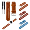 Replacement Leather Wrist Strap Watchband for Garmin vivoactive Approach S2 Approach S4 GPS Watch