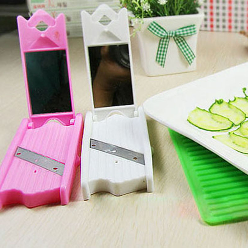 Blade Cutter Facial Tools Thin Slice Beauty Cucumber With Mirror Peeler Slicer