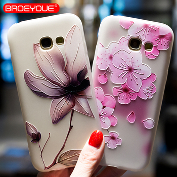 BROEYOUE Case For Samsung Galaxy S8 S7 Edge S9 Plus Note 8 J2 J3 J5 J7 A3 A5 A7 A8 2016 2017 Prime 2018 Relief Silicone Cases