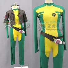 X-men Rogue Cosplay Costume Adult Women Halloween Clothing Version Custom Made with coat and belt