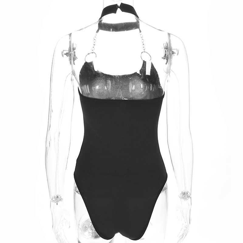 Sweetown Combinaison короткие Femme пикантные черные сапоги спинки боди одна деталь уличная без бретелек Bodycon Комбинезоны для малышек женские комбинезон