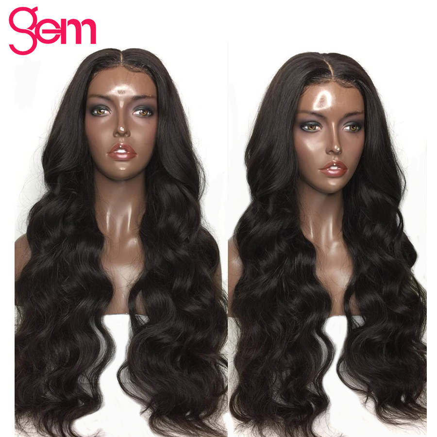 Body Wave Wig Lace Front Human Hair Wigs Pre Plucked For Black Women Brazilian GEM Remy