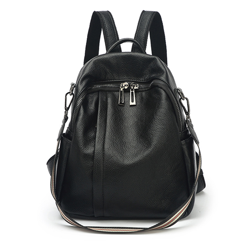 6958-D New Fashion leather shoulder bag Ladies multi function anti-theft knapsack leather Backpack Women's Bag thumbnail