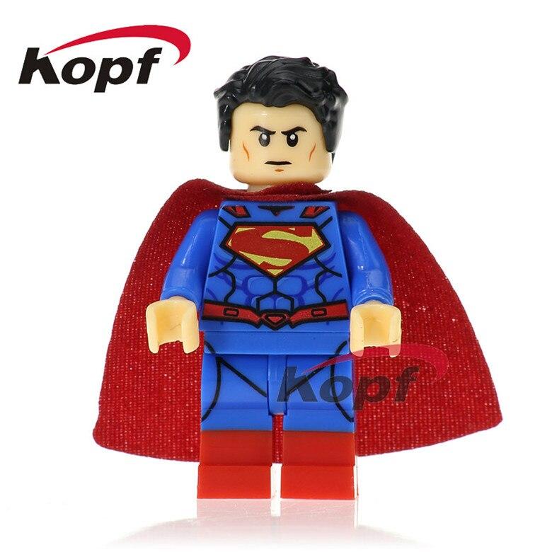 50 шт. XH 667 Super Heroes Супермен Bizarro Wonder Woman Локи Тор кирпичи набор модель здания Конструкторы образование Игрушечные лошадки для детская