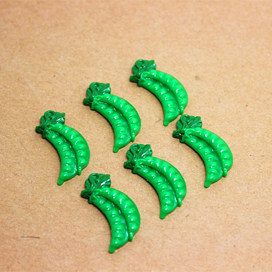 Массовая Лот 50 шт. 10*25 мм милые бобовые овощей Кабошон из ювелирной смолы для DIY ремесло искусства скрапбукинга, RF2023