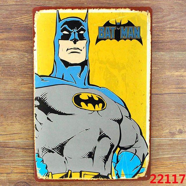 popular gift batman comics bat man retro superhero comics tin sign