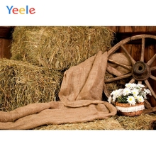 Yeele Autumn Rural Farm Barn Haystack Wheel Scene Baby Child Photography Backgrounds Custom Photographic Backdrop Photo Studio