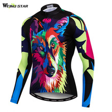 Weimostar Printing Wolf Cycling Jersey Long Sleeve Shirt Autumn MTB Bicycle  Cycling Clothing Breathable Mountain Bike a1d99548c