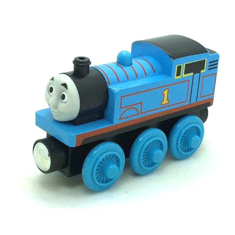 free shipping RARE NEW Originais Thomas And Friends Wooden Magnetic Railway Model Train Engine Track Boy / Kids Train Game Toys