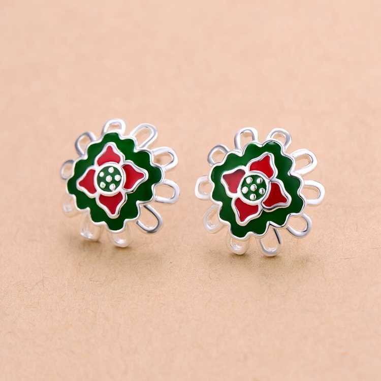 Free shipping high quality silver plated earrings Fashion jewelry WE1018