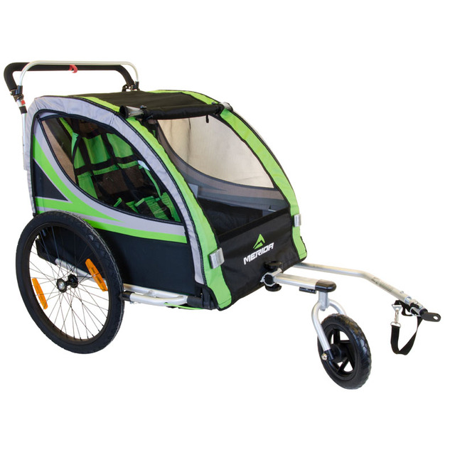 2 In 1 Bike Trailer Toddler Stroller With Double Brake air
