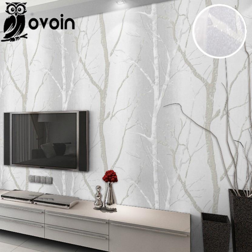 gris beige minimaliste nature bouleau fort bois revtements muraux papier peint design moderne chambre papier peint
