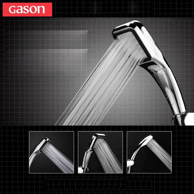 GASON hochdruck handheld dusche kopf wasser-saving wasser-saving bad 300 loch hohe qualität dusche kopf platz düse GN01