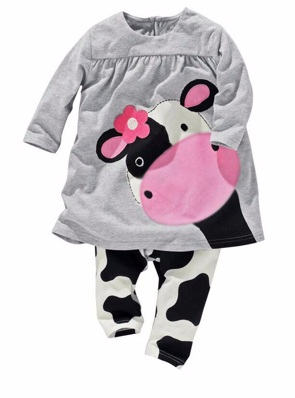 Clearance Baby Girl Clothes Infant Cute Cartoon Cow