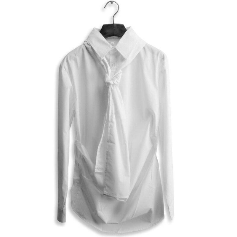 Настоящая уникальная дизайнерская мужская рубашка с длинным рукавом, белая, клетчатая, для отдыха, без подкладки, верхняя одежда - Цвет: Белый