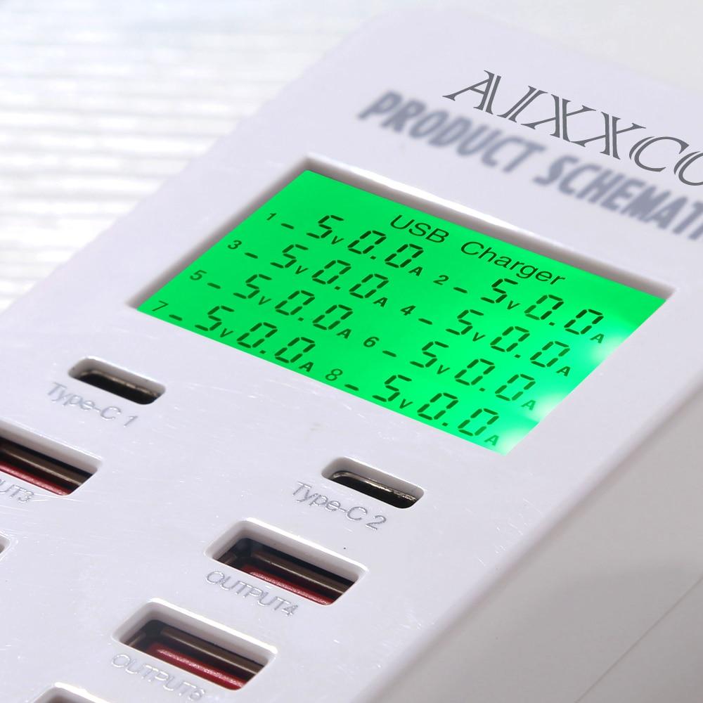 Cargador USB AIXXCO 35W con 2 puertos USB tipo C Estación de carga - Accesorios y repuestos para celulares - foto 4