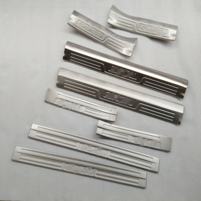 Free Shipping door sill strip car accessories car styling For Nissan QASHQAI 2015 welcome pedal Trim 8pcs 4 pcs chrome plated abs door handle bowl for nissan qashqai