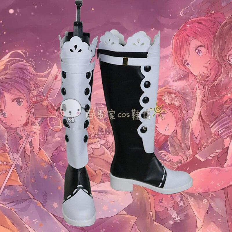 Love Live Cosplay Shoes Lovelive! Rin Hoshizora Kimono Awakening Cosplay Boots Handmade Customize