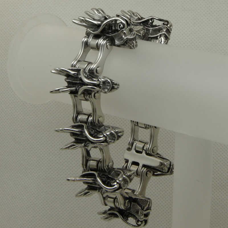 Heavy drago moto 189g 30mm larghezza 8.66 ''316L bracciale in acciaio inossidabile