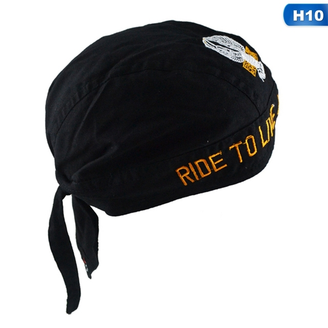 Multicolor Mens Womens Pure Cotton Printing Pirates Hat Biker Bandana Head Wrap
