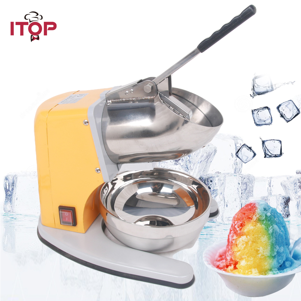 Hot sale Stainless Steel Electric Ice Shaver Manual Ice Crusher Machine Snow Cone Maker with CE Free shipping to some countries цена 2017