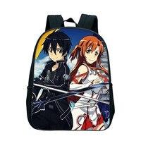 2018 Japan Anime Sword Art Online Backpacks Cartoon SAO School Bag Nylon Zipper Bookbags Children Gift