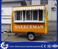 chinese traction snack dining cart with rain shed cheaper food trailer street mobile food carts for sale