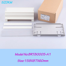 3 pcs/lot free shipping abs din rail enclosures electronics  158*87*60mm