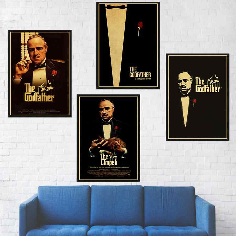 Classic film The Godfather poster bar home wall decoration retro kraft paper vintage poster wall sticker