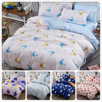 Cartoon Animal 3/4 pcs Bedding Set Couple Double Size Duvet Cover Full King Queen Twin Single Kids Bed Linens 1.2m 1.5m 1.8m 2m