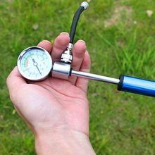 Высокое давление MTB велосипед компактная подвеска вилка и задний амортизатор насос 88 фунтов/кв. дюйм