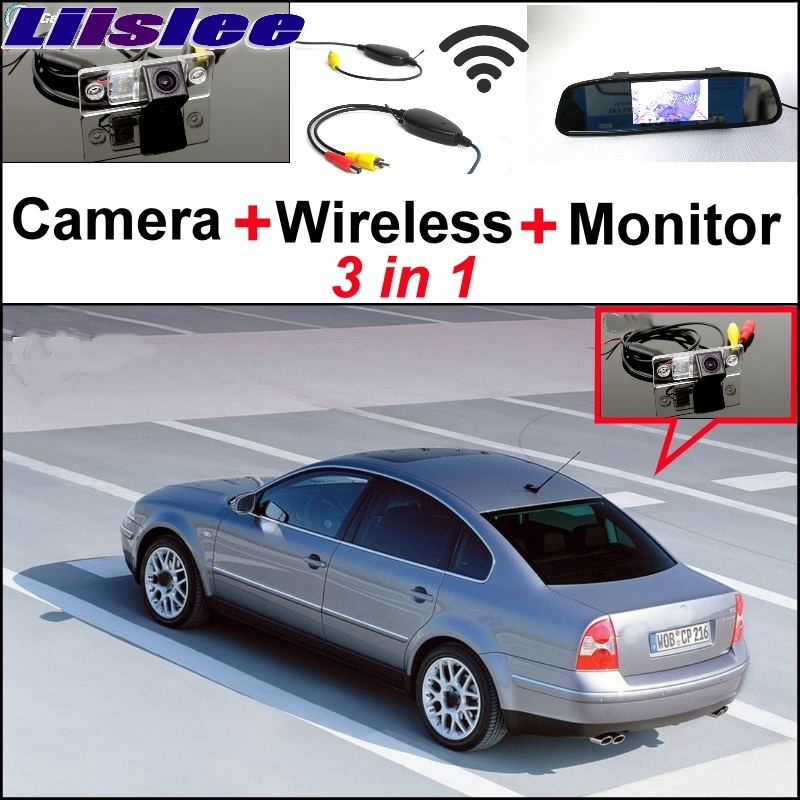 Liislee Special Rear View Camera + Wireless Receiver + Mirror Monitor Easy Parking System For Volkswagen VW Passat B5 Magotan 3 in1 special rear view camera wireless receiver mirror monitor easy diy backup parking system for jeep liberty 2002 2007