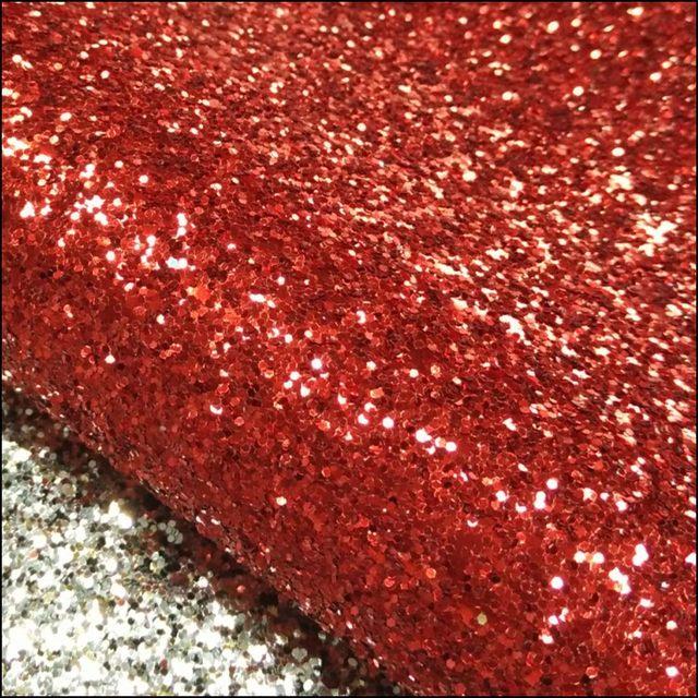 50 Meter Per Roll Glitter RED Wallcovering Chunky Wallpaper 3D