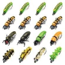 واقعية يطير حشرات صيد مجموعة 16 قطعة فراشة يرقات خنفساء الذباب الجاف الحشرات إغراء ل PikeTrout إغراء عدة flyfishing