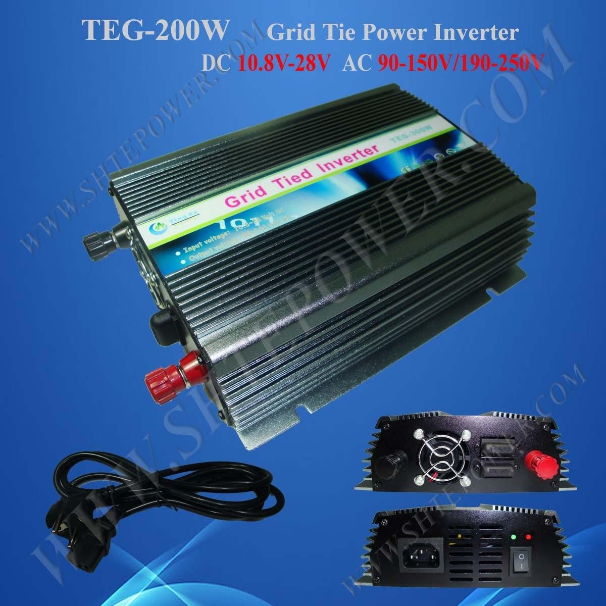 200w grid tie solar inverter 200w on grid tie solar inverter dc 10.8-28v to ac 100v/240v 200w power inverter for solar panel on grid system dc 10 8v 28v to ac 90v 150v one year warranty high quality