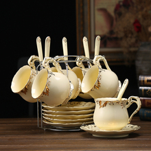 Creative Europe vintage Coffee cups set cup Saucer spoon sets Phnom Penh British porcelain tea Teatime Afternoon Tea