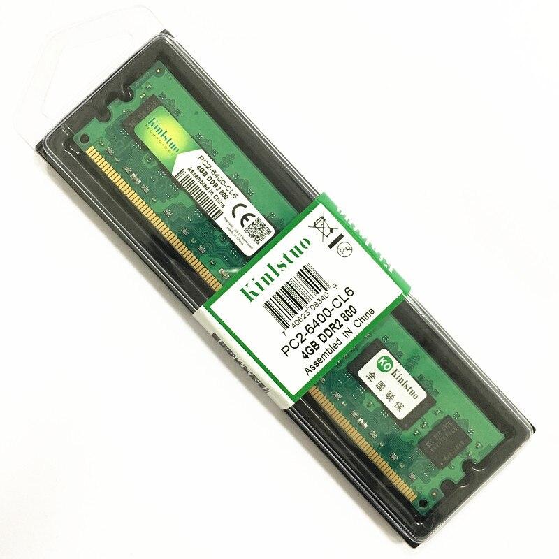 Kinlstuo Béliers DDR2 800 MHz/667 MHz 4 GB DDR2 mémoire PC 6400/5300 DE BUREAU LONG-DIMM Béliers bonne compatibilité pour Intel et AMD