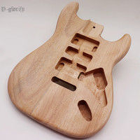 2 pc wood combine ST electric guitar body okoume wood guitar body