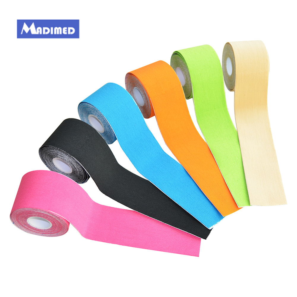 10 rolls 5cmx5m cotton kinesiology tape elastic adhesive muscle tape sports bandage Curetape latex free