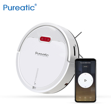 Pureatic 2019 New V2 Smart Robot Vacuum Cleaner Remote Control,Plan Time, Auto Recharge Vacuum Cleaner for Pet Hair Home Clean